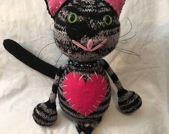 Knit cat doll