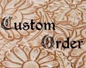 A5 lether journal for custom order