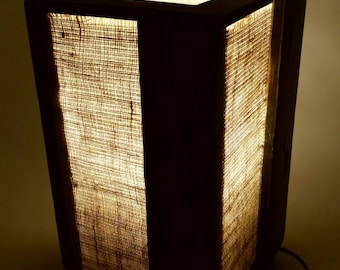 table lamp wood table lamp rustic lamp rustic table lamp handmade lamp