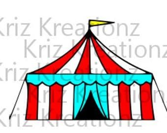 Large Carnival Tent SVG Cut File
