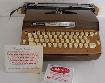 Smith Corona Coronet Electric 12 (brown two-tone)