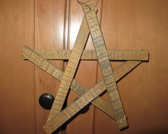 WOODEN STAR   COUNTRY Star     Christmas star