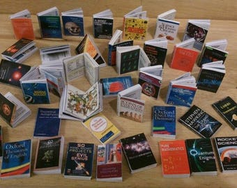 Dolls house miniature books /(individual) SCIENCE books with pictures