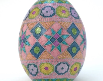 Chicken Egg Pysanka, pastels
