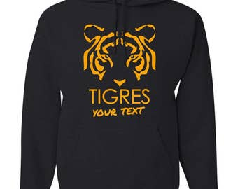 Tigres UANL Mexico Hooded Sweatshirt Hoodie Hoody Sudadera With Custom Text(optional)