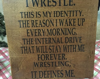 Wrestler sign