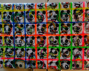 canvas with panda kawaii