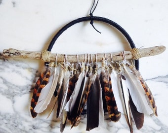Dreamcatcher / Attrape Reves with Feathers - Black