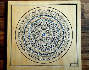 Mandala Wood Art