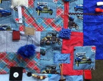 CLASSIC CARS | Gift for Grandpa | Alzheimer's Blanket for Dementia | Fidget Quilt | Fidget Blanket | by Restless Remedy