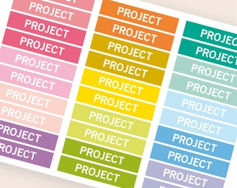 Project Heading stickers, planner header stickers, planner stickers, agenda notebook journal stickers, reminder holidays