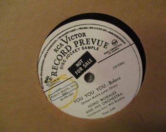 RCA Victor Record Prevue Disc Jockey Sample Record LP Album- Noro Morales and Orchestra You You You and Sheik of Araby