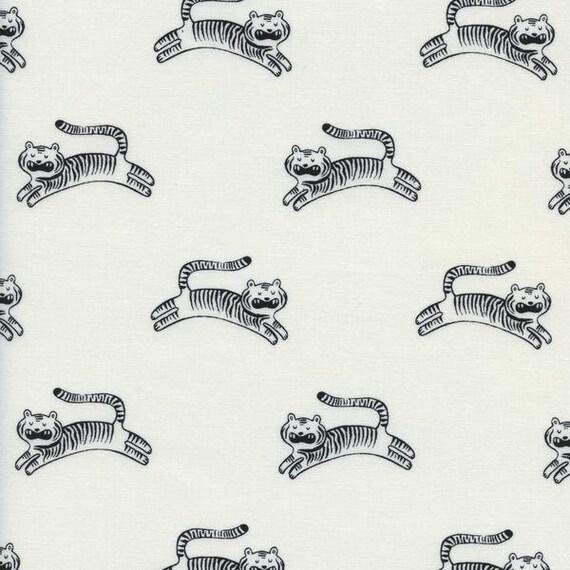 Crib Sheet >> Sleep Tight Big Roar in White >> MADE-to-ORDER tiger crib sheet, black white toddler sheet set, gender neutral tiger bassinet