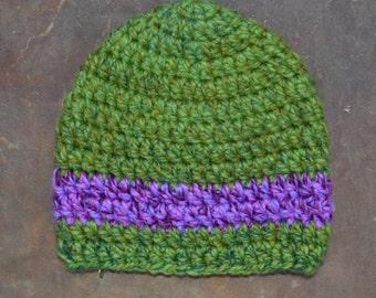 Green & Purple Beanie 2