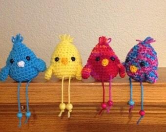 Colorful Crocheted birds / Amigurumi Birds