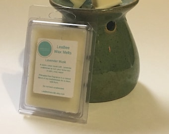 Lavender Musk Wax Melts • LeaBee Naturals beeswax and soy wax tarts