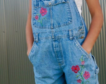 Vintage Route 66 Short Overalls