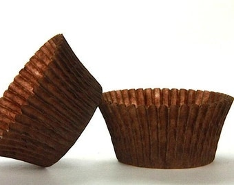 50pc Solid Brown Color Standard Size Cupcake Baking Cups Liners Wrappers
