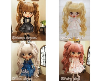 Blythe doll wig 10inch Two Tale Style wig Pulip outfit