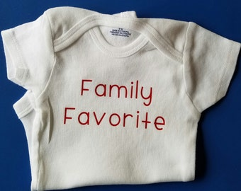 Family Favorite Baby Clothes, Funny Baby, Baby Shower Gift, Gender Neutral Baby Clothes, I'm The Favorite, First Grandchild, Pregnancy Gift