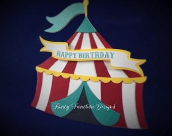 Big Top Invitation, Circus Tent, Circus Birthday, Baby Shower Invitations