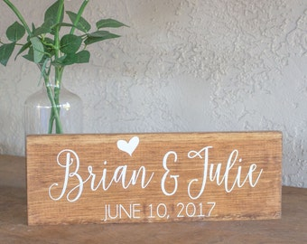 Wedding Date Sign - Engagement Sign with Date - Engagment Sign with Names - Names and Wedding Date Sign - Wedding Gift - Engagement Gift