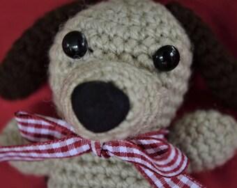 Crochet puppy dog keyring/keychain