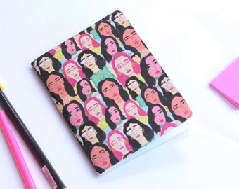 Cool Young Ladies dot grid notebook - journal