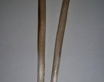 Handcarved Hair Sticks ~ Set of 2