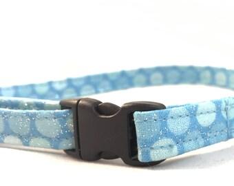 Blue Kitty Collar - Safety Collar - Breakaway Cat Collar - Modern Cat Collar - Modern Dog Collar - Girl Collar - Trendy Cat Collar