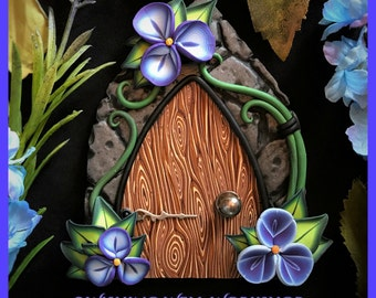 Polymer Clay Periwinkle Fairy Door