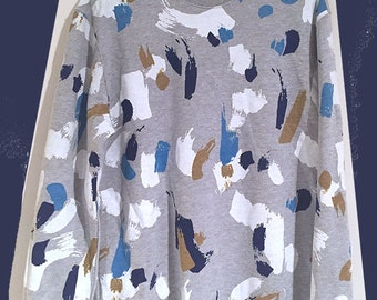 Hand Painted Brush Strokes print - printed sweatshirt // BRAND NEW one off SAMPLE // Great Reduced Price