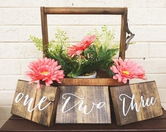 Rustic Table Numbers | Wood Wedding Signs | Country Wedding Decor | Rustic Centerpiece