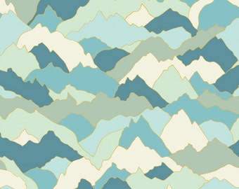 Mountainside Print Cotton Fabric, Quilting and Patchwork Fabric - Fat Quarter