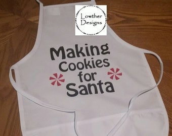 Making Cookies with Santa Childs's Apron