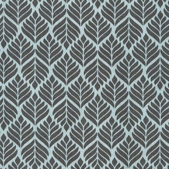 Au maison oilcloth trigo charcoal turquoise coated cotton for Au maison oilcloth