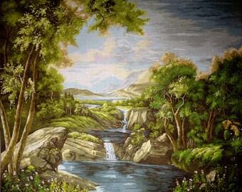 "Gobelin Tapestry Needlepoint Kit ""Landscape""  printed canvas 408"
