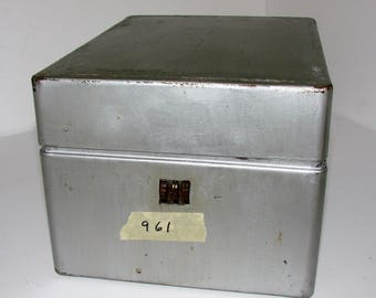 Metal Locking Box Combination 3 Number Lock Easy To Use Great Metal Boxes For So Many Uses Mid Century Storage