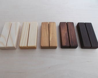 20 wood place card holders restaurant table number holder wooden card holder wood