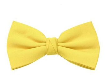 Sun Yellow Men's Bow Tie; Wedding or Prom Bow Tie Suitable for Groomsmen available in 35 colours by Matchimony