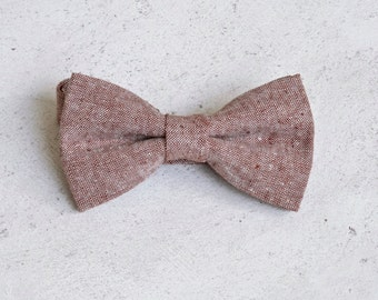 Rust Red Textured Bow Tie