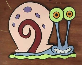Gary die cut from Spongebob