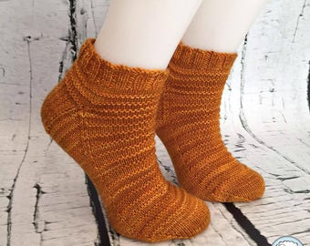 Merino handknit ankle socks for women, Quebec Product