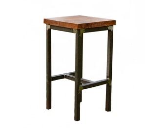 Wood and Steel Barstool - Rustic - Industrial