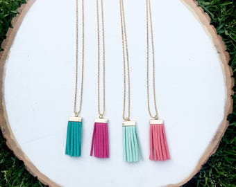 Toddler fringe tassel necklace