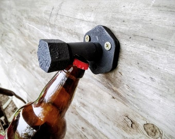 Bottle Opener Vintage Rustic Wall Mounted Cast Iron