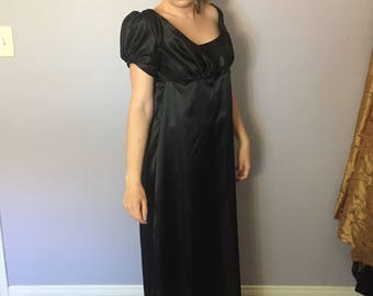 Black Regency Gown