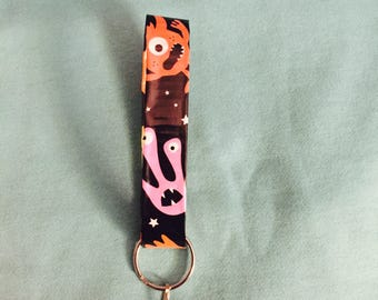 Space Monsters/Aliens Duct Tape Key Chain