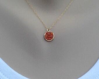 Carnelian Necklace,Gold Carnelian Necklace,Simple Gold Necklace,Dainty Necklace,Layered Necklace, Orange Stone Necklace