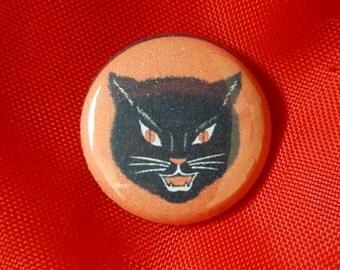 "Halloween Cat 1"" Pin"